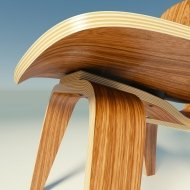 Стул Eames Plywood DCW Chair (LCW)